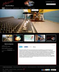 Visión de la web completa de Albéniz Escuela de Música