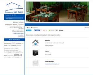 Web de Restaurante San Justo
