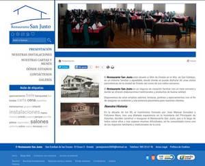Visión de la web completa de Restaurante San Justo