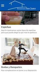 Versión móvil de Web de Restaurante San Justo