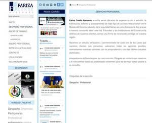 Web de Fariza Conde Asesores