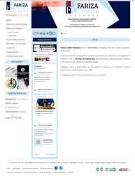 Visión de la web completa de Fariza Conde Asesores