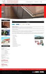 Visión de la web completa de Metalicas De Mareo