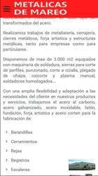 Versión móvil de Web de Metalicas De Mareo