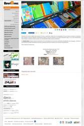 Visión de la web completa de Libreria Amez