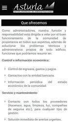 Versión móvil de Web de Asturla