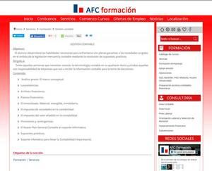 Web de AFC Formación