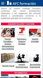 Versión móvil de Web de AFC Formación