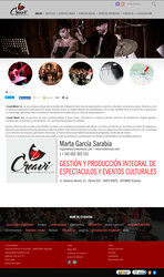 Visión de la web completa de Creavi Music