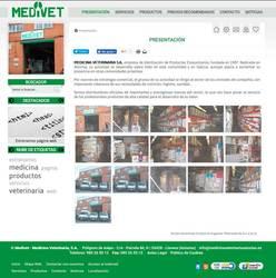 Visión de la web completa de Medicina veterinaria Asturias
