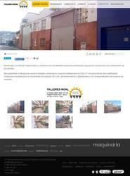 Visión de la web completa de Talleres Noal