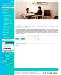 Visión de la web completa de Tu logopeda