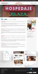 Visión de la web completa de Hostal Residencia Plaza