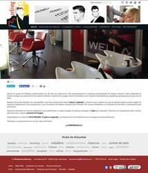 Visión de la web completa de Bertony estilistas