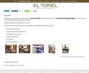Web de Sidrería/Restaurante El Tonel