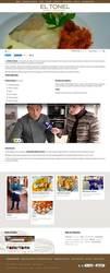 Visión de la web completa de  Sidrería/Restaurante El Tonel