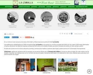 Web de Hotel Rural La Corolla