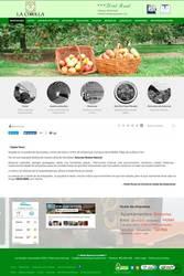 Visión de la web completa de Hotel Rural La Corolla