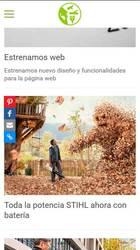 Versión móvil de Web de Coastur