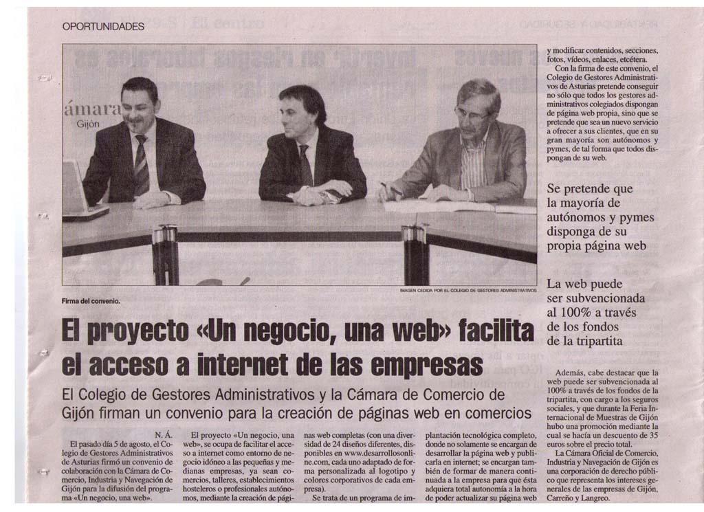 El proyecto 'Un Negocio, Una Web' facilita el acceso a internet de las Empresas