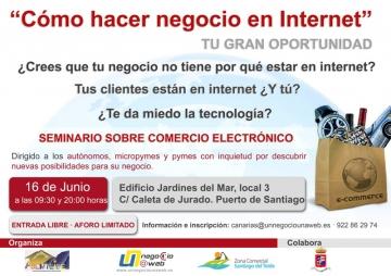ASEMTEIDE - Tenerife, organiza un seminario sobre comercio electrónico y Un Negocio Una Web.
